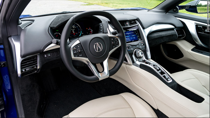 2020 Acura Nsx White  interior