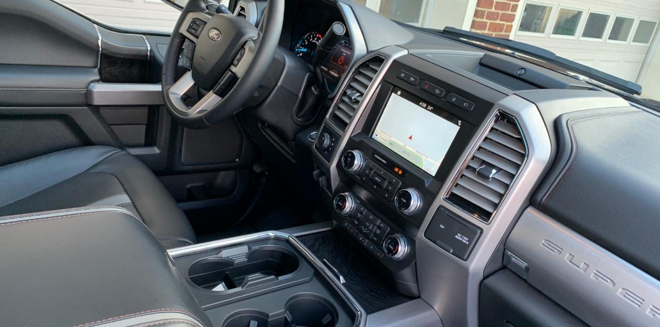2020 Ford F350 Platinum Interior